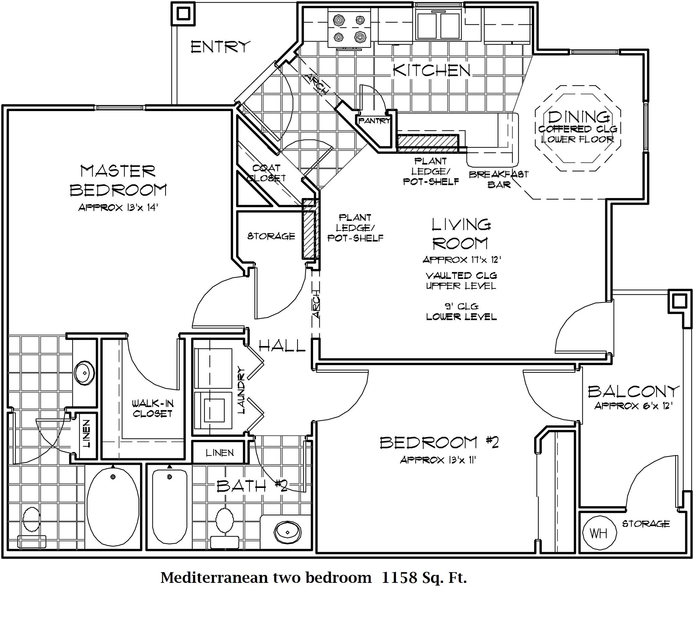 The Mediterranean - Two Bedroom